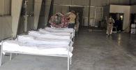 Ганси базасындагы убактылуу ооруканаларда 30 орундуу жандандыруу бөлүмү. Архивдик сүрөт